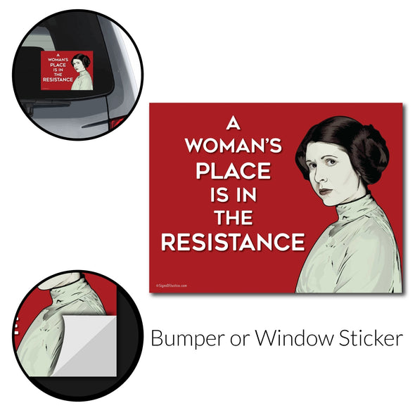 Princess Leia Bumper Sticker - Free Shipping!