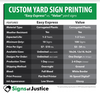 Value Yard Signs