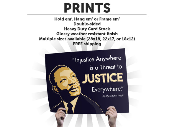 MLK Justice Protest Sign or Poster