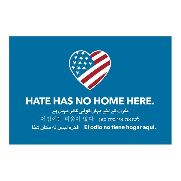 Hate Has No Home Here Bumper Sticker