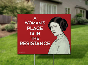 Princess Leia Yard Sign