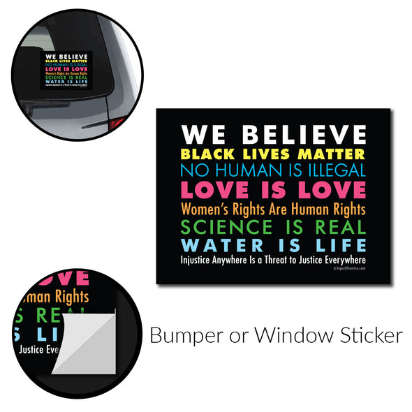 Copy of We Believe Bumper Sticker