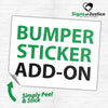 Bumper Sticker Add-On