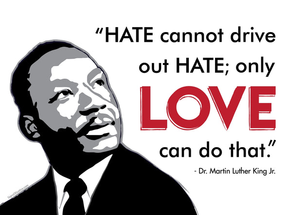 MLK Love Bumper Sticker - Free Shipping!