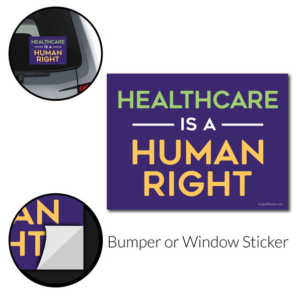 Healthcare Rights Bumper Sticker - Free Shipping!