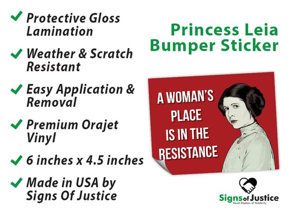 Princess Leia Bumper Stickers