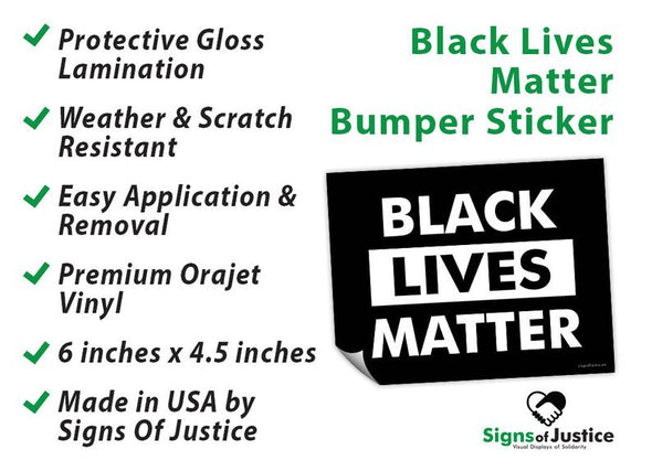 Black Lives Matter Bumper Stickers