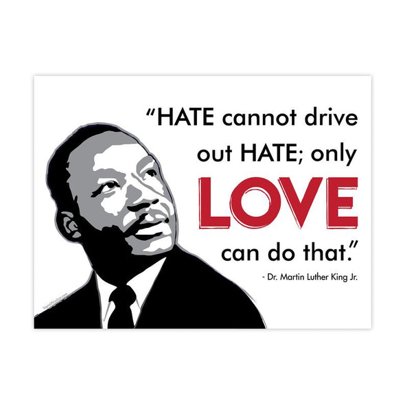 Martin Luther King Love Vinyl Banner