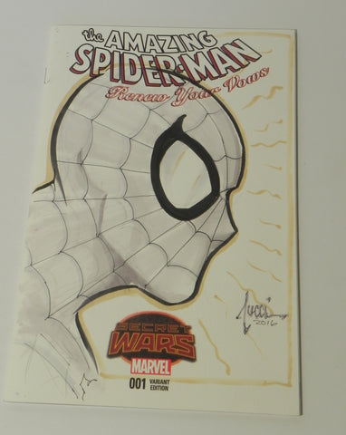 The Amazing Spider-man Marvel Sketch Cover Book Drawn By Billy Tucci - Vaulted Collection LLC