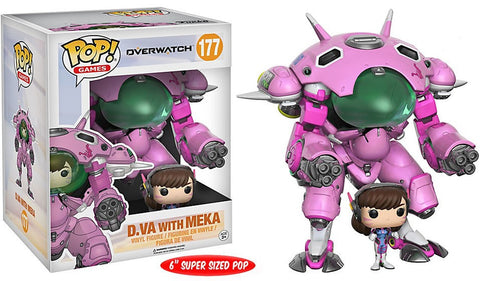Funko Pop D.V.A with Meka # 177  Overwatch Pop Games - Vaulted Collection LLC