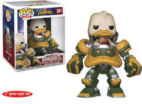 Funko Pop Howard The Duck 301 Vinyl Games Marvel Contest of Champions 6 Inch - Vaulted Collection LLC