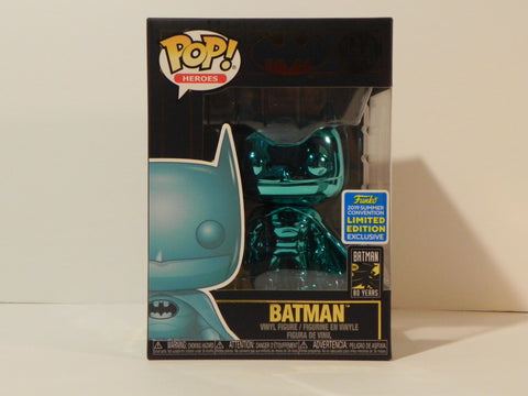Funko Pop Teal Chrome Batman #144 SDCC - Vaulted Collection LLC