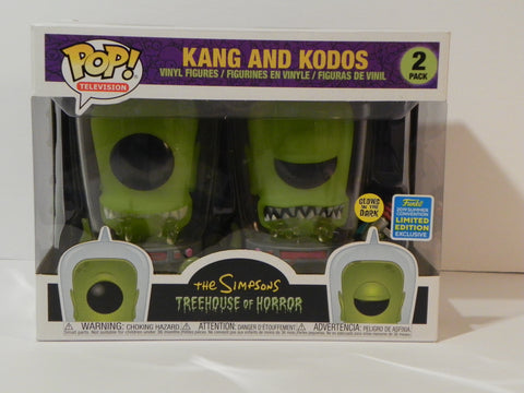 Funko Pop Kang and Kodos SDCC The Simpsons - Vaulted Collection LLC