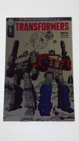 IDW Transformers 1 Metal Cover Fan Expo Exclusive 244 of 750 - Vaulted Collection LLC