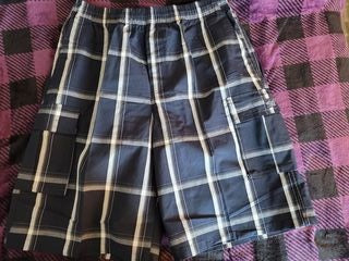 Plaid Shorts- Navy