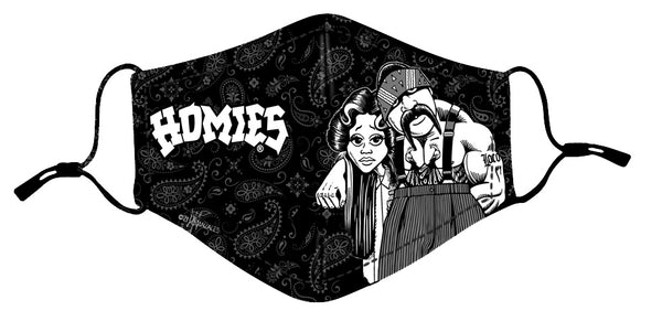Protective Mask- Homies Big Loco & Shygirl (Black and White)