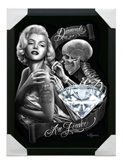 Small Framed Canvas Art- Diamonds
