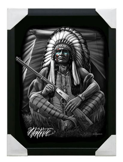 Small framed Canvas Art- Native