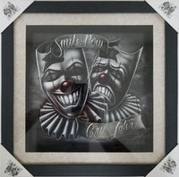 Smile Now Cry Later Shadow Box Framed Art