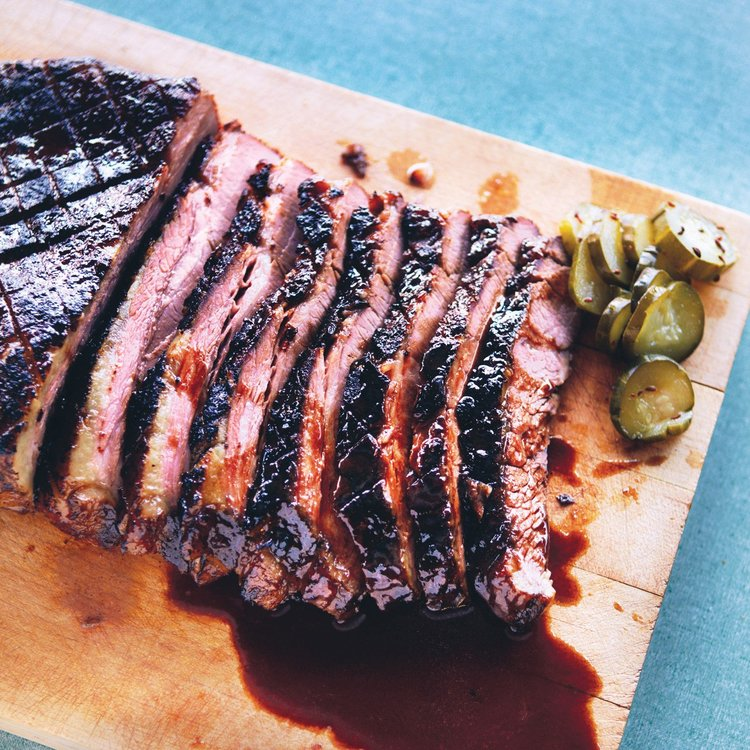 Braised Brisket with Bourbon Chipotle Glaze