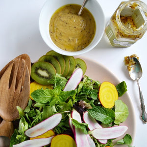 Summer Salad with Kiwi Vinaigrette