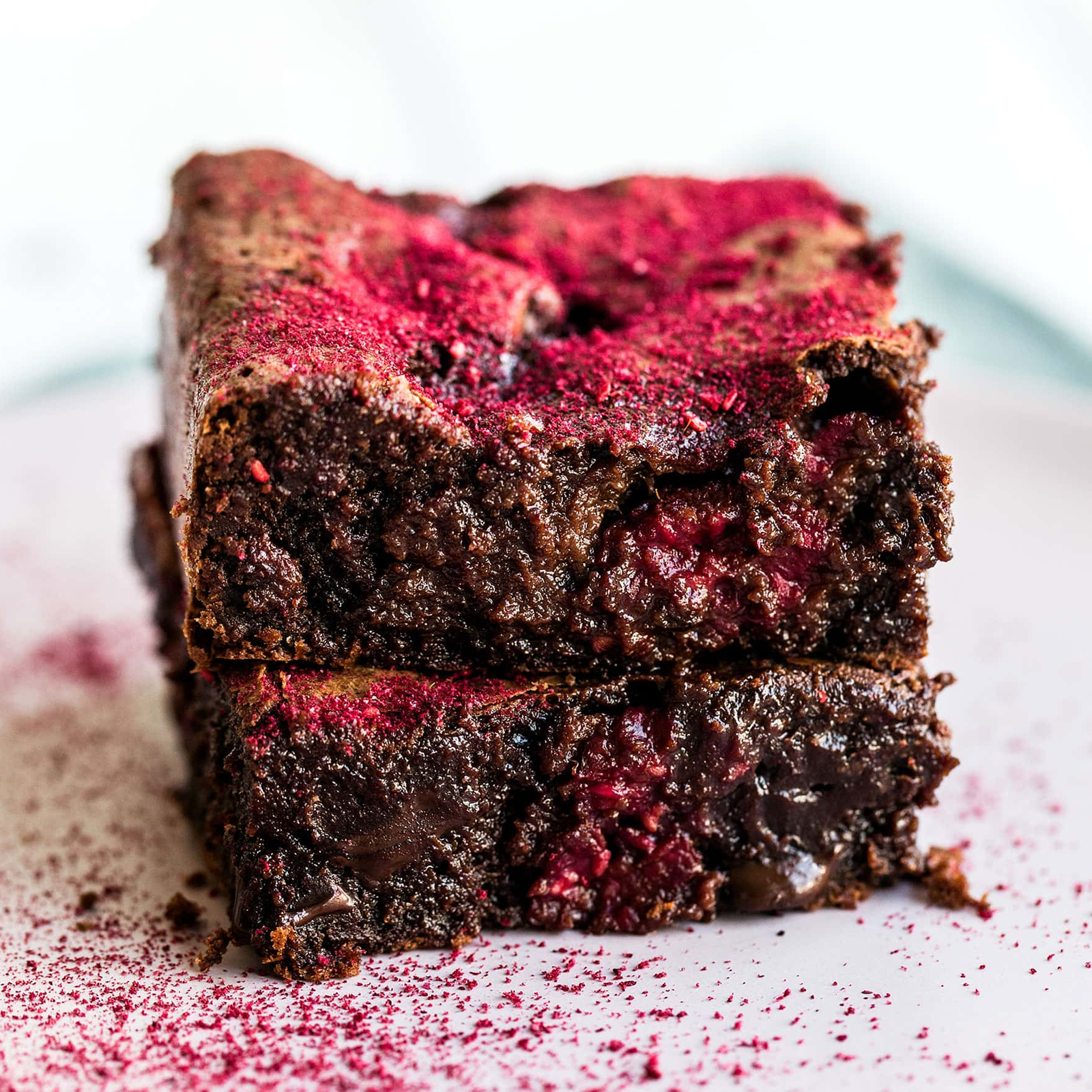 Raspberry Hot Sauce Brownies