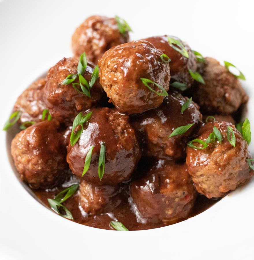 Saucy 3-Ingredient Slow Cooker Meatballs