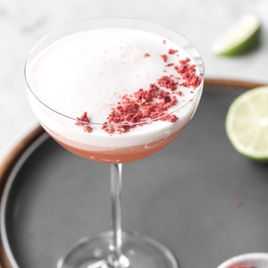 Spicy Strawberry Mezcal Sour