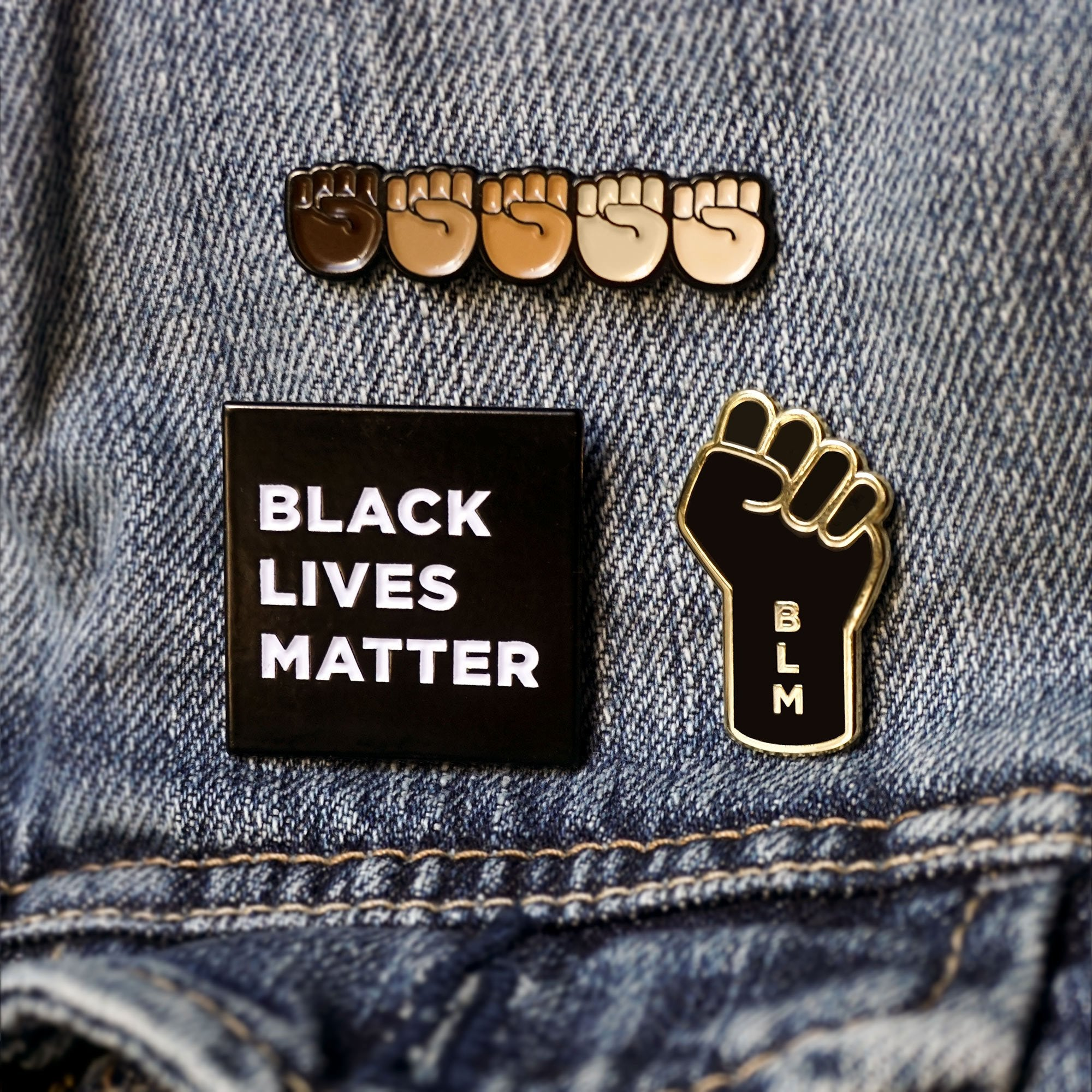'STAND TOGETHER' RAISED FISTS EMOJI PIN | BLACK LIVES MATTER CHARITY FUNDRAISER