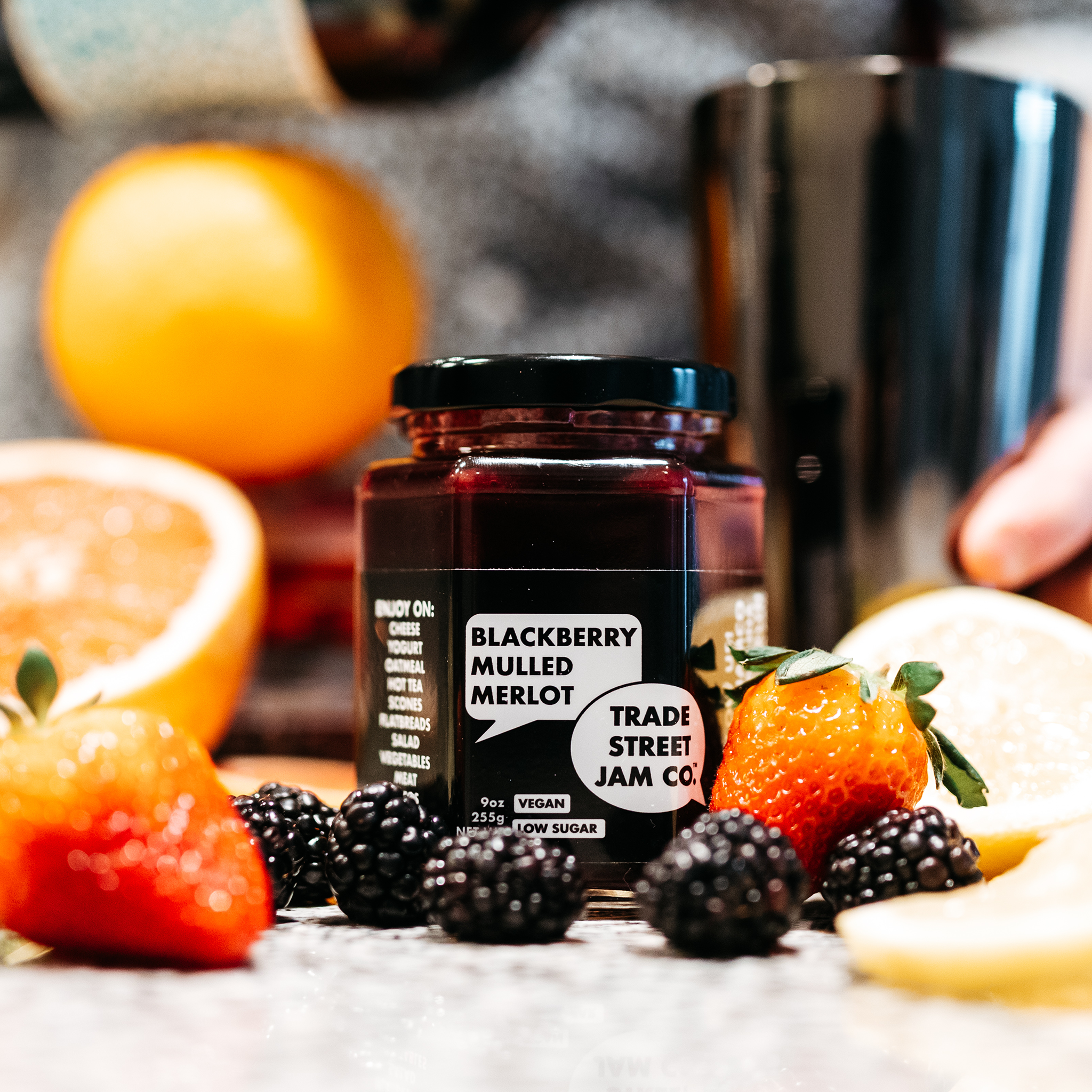 jam, jelly, mulled merlot, blackberry, low sugar, vegan