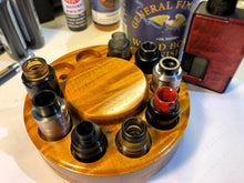 Load image into Gallery viewer, Rotating Atty Holder - Amber Figured Maple-BC Custom Design