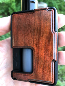 Redheart with Black Stain Custom Panels for Pulse 80w and Pulse X BF (Semi-Gloss)-BC Custom Design