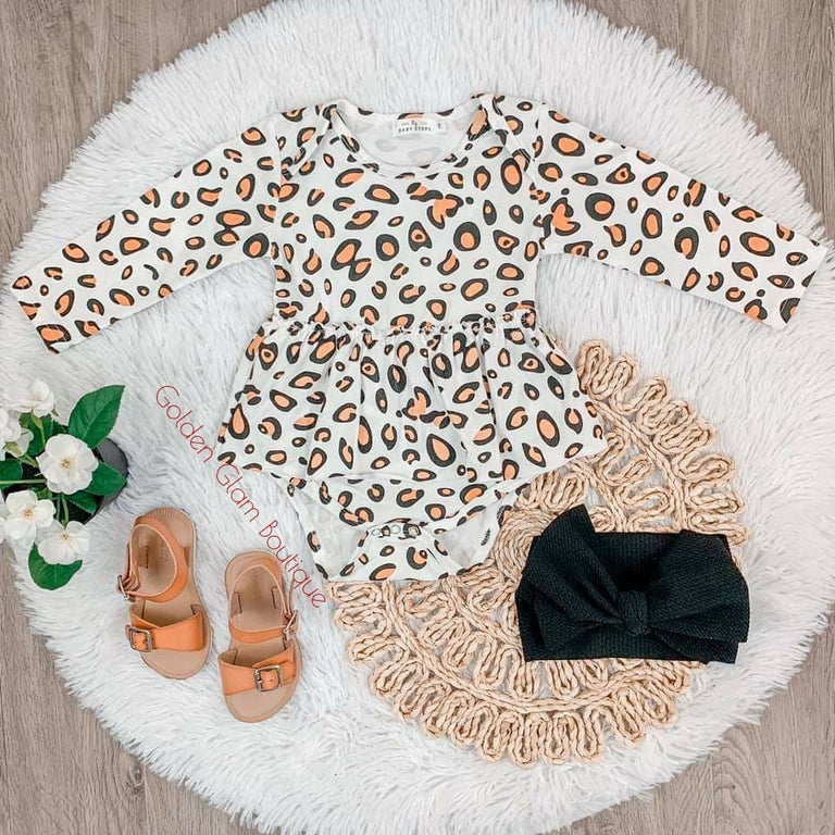 Cheetah romper