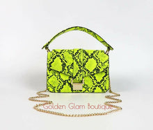 Load image into Gallery viewer, Soho Neon Snakeskin Bag