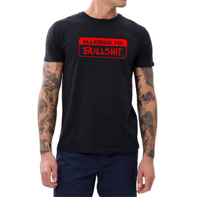 Loo Show Mens Allergic to:Bullshit Casual Men T-Shirts Tee