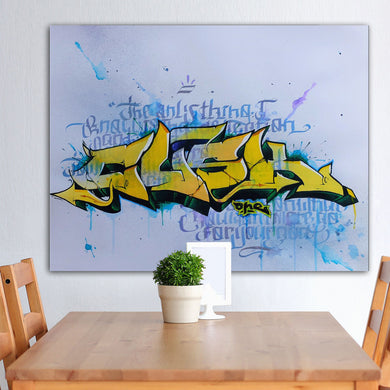 Unframed  Graffiti Canvas printed painting, Home Decoration wall art, Living Room Modern oil Painting