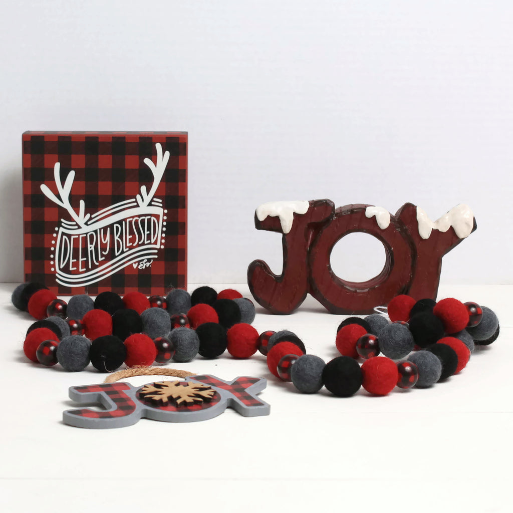 Red Buffalo Plaid Bead