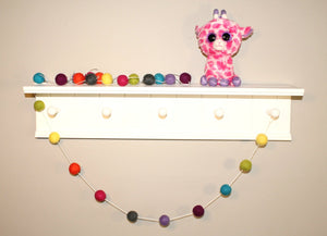 Cheerful Felt Ball Garland, Colorful Pom Pom Garland, Summer Garland