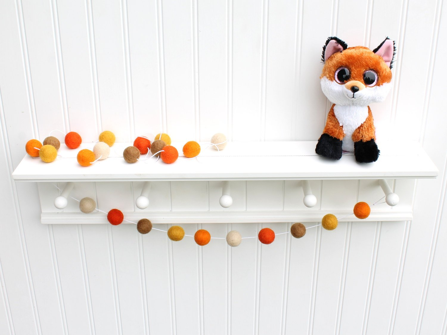Felt Ball Garland Fall Pom Pom Garland Halloween Party Decor Therainbowbarn