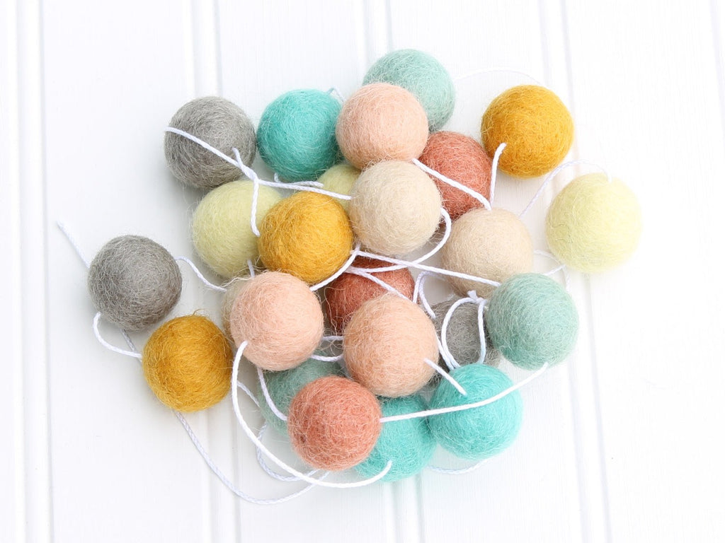 Felt Ball Garland, Pom Pom Garland, Gender Neutral