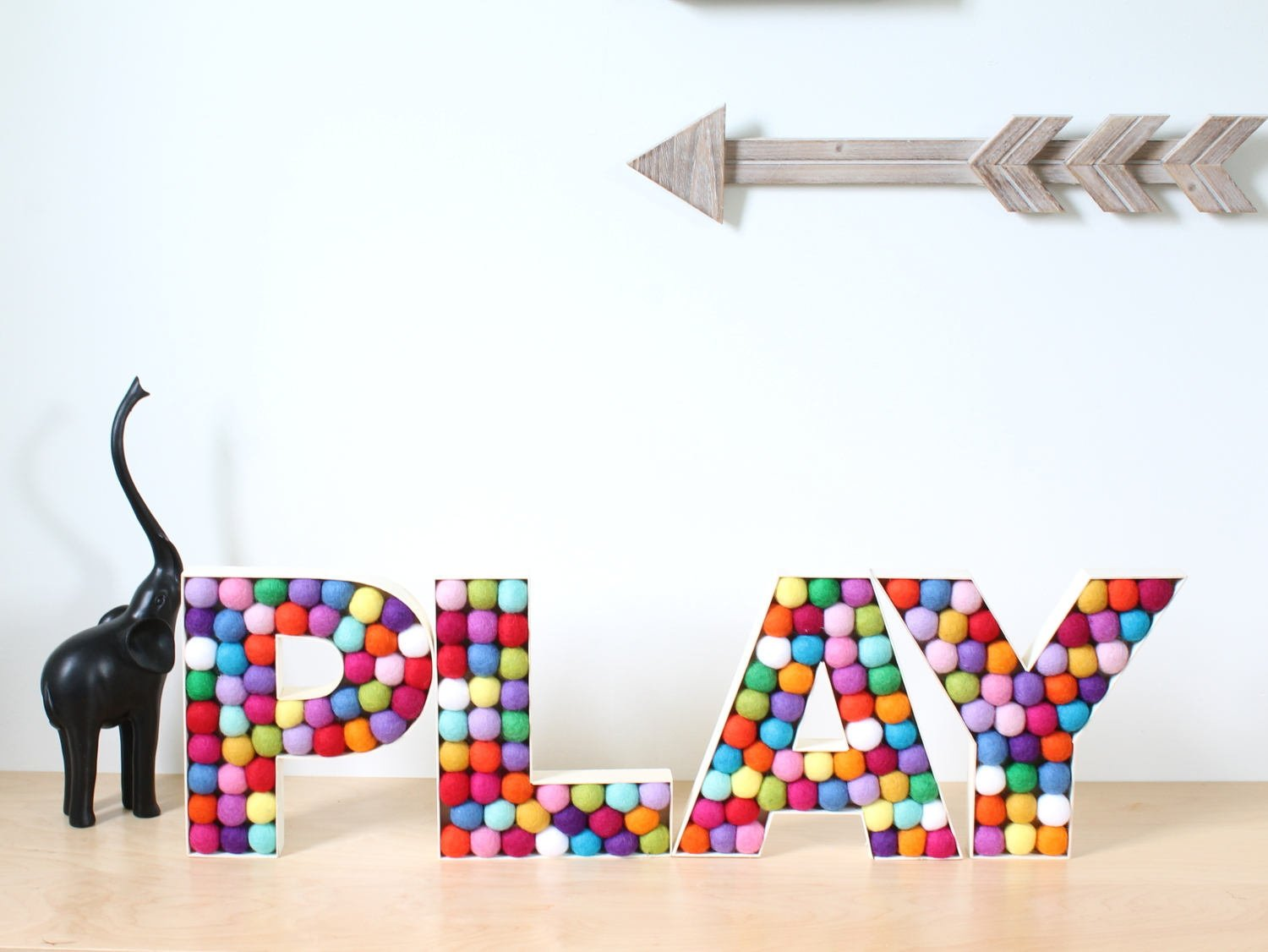 Felt Ball Alphabet Letters PLAY, Nursery Decor, Felt Balls