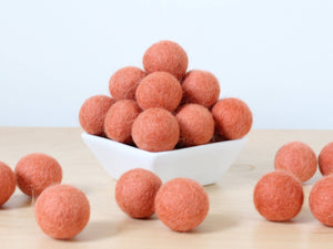 Felt Balls: TERRACOTTA, Felted Balls, DIY Garland Kit