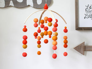 COLORFUL Felt Ball Mobile, Baby Mobile, Crib Mobile