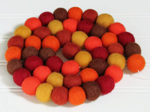 Felt Ball Garland Autumn, Pom Pom Garland, Fall Decor