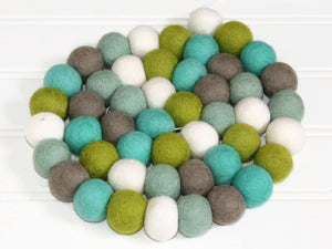 Spring FELT BALL GARLAND, Pom Pom Garland Easter, Nursery Decor