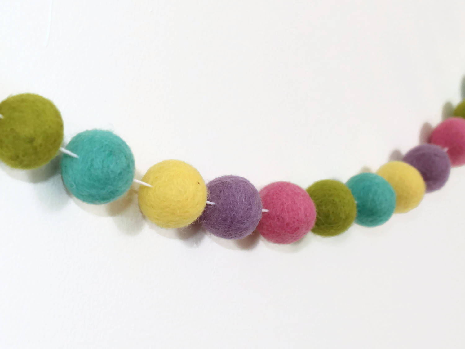 Felt Ball Garland Easter Pom Pom Garland Spring Easter Decor Therainbowbarn