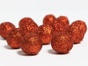 CITRINE Orange Glitter Felt Balls, Pom Poms, Felt Ball Garland