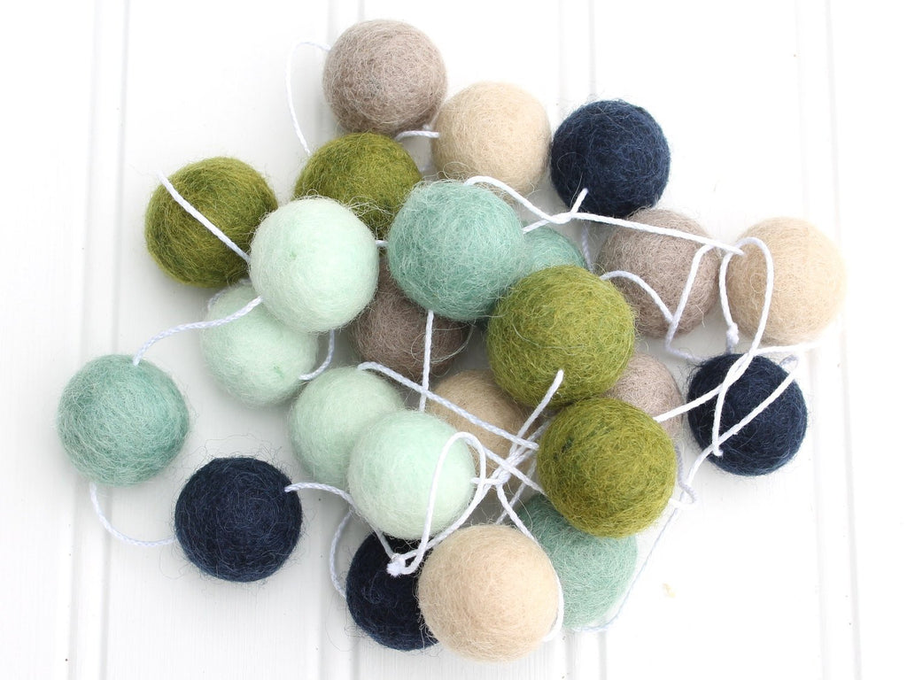 Felt Ball Garland, Pacific Coastal, Pom Pom Garland