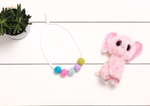Kids Felt Ball Woolie Ball Necklace | Spring Necklace | Felt Ball Necklace