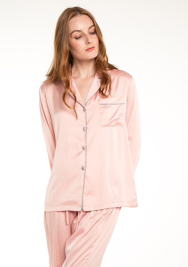 Silk Pyjama Set Blush